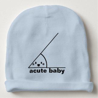 Ángulo agudo divertido geeky gorrito para bebe