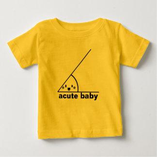 Ángulo agudo divertido geeky playera de bebé