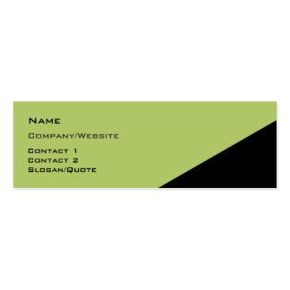 Ángulo bicolor plantillas de tarjeta de negocio