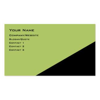 Ángulo bicolor plantilla de tarjeta de negocio
