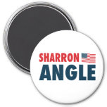 Ángulo de Sharron patriótico Imán De Frigorífico