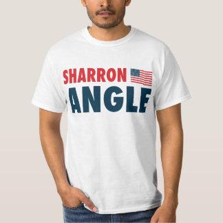 Ángulo de Sharron patriótico Poleras