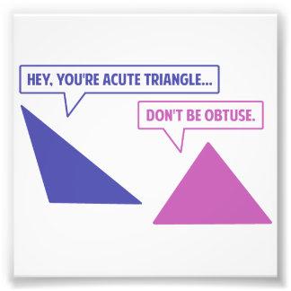 Ángulo obtuso del triángulo agudo foto
