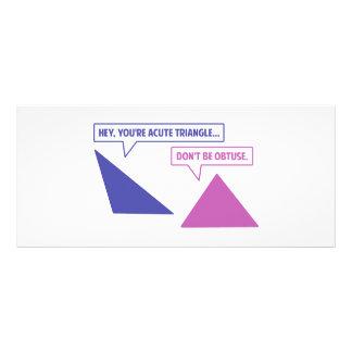 Ángulo obtuso del triángulo agudo tarjetas publicitarias