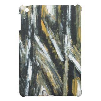 Ángulos agudos negros (expresionismo abstracto) iPad mini protectores