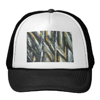 Ángulos agudos negros (expresionismo abstracto) gorra