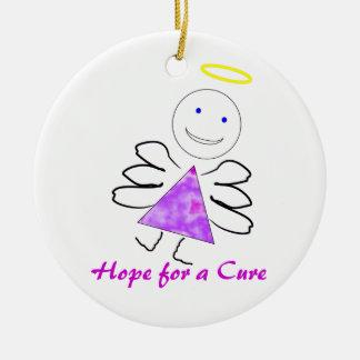 Ángulos para un ornamento 2010 de la curación adorno redondo de cerámica