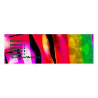 Ángulos y líneas abstractos tarjeta del perfil tarjeta de visita