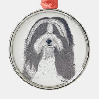 """Angus""  Bearded Collie - Ornament"