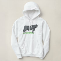 Angus Bull Embroidered Hoodie