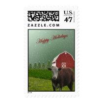 Angus Cow Happy Holidays? Postage