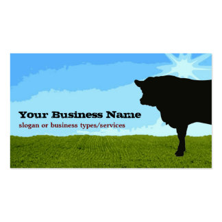 Angus Cow Silhouette Business Card Template