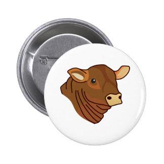 Angus Head 2 Inch Round Button