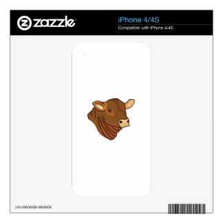 Angus Head Skin For iPhone 4S