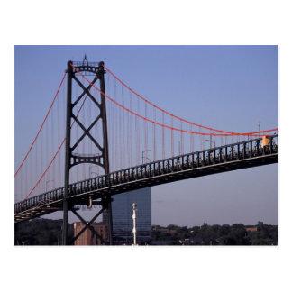 Angus L Macdonald Bridge, Halifax, Nova 2 Postcard