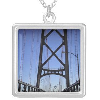 Angus L Macdonald Bridge, Halifax, Nova Square Pendant Necklace