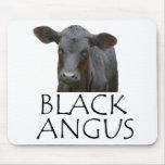 Angus negro alfombrillas de raton