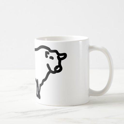angus negro grande taza de café