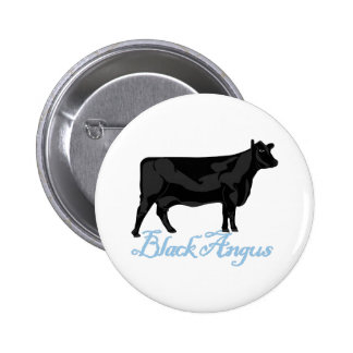 Angus negro pin redondo 5 cm