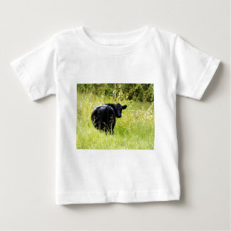 Angus Steer in Tall Yellow Grass Baby T-Shirt