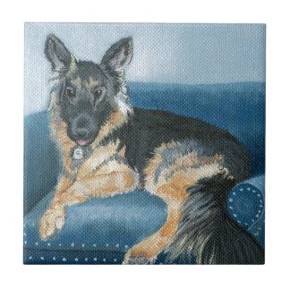 Angus the German Shepherd Ceramic Tile