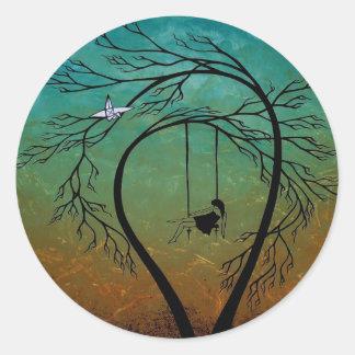 Angustia y poesía 20… pegatina redonda