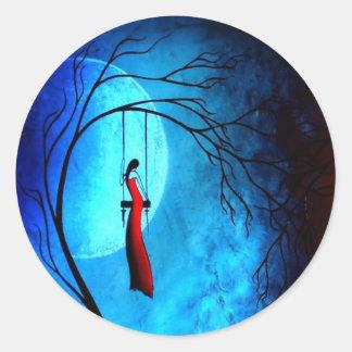 Angustia y poesía 36… pegatina redonda