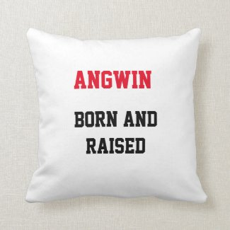 Angwin Born and Raised Throw Pillow