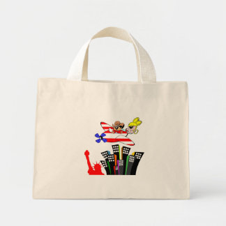 Angy and Roy conquer America Mini Tote Bag