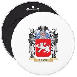 Anhele el escudo de armas - escudo de la familia pin redondo 15 cm