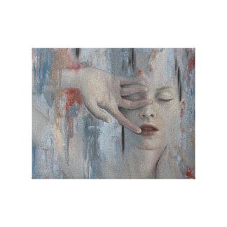 Anhele la lona de arte lienzo envuelto para galerías