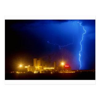 Anheuser-Busch Budweiser Brewery Lightning thunder Postcard