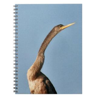 Anhinga Bird Spiral Photo Notebook