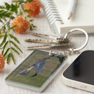 Anhinga Takeoff Single-Sided Rectangular Acrylic Keychain