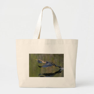 Anhinga Takeoff Large Tote Bag