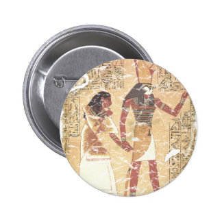 Ani and Horus 2 Inch Round Button