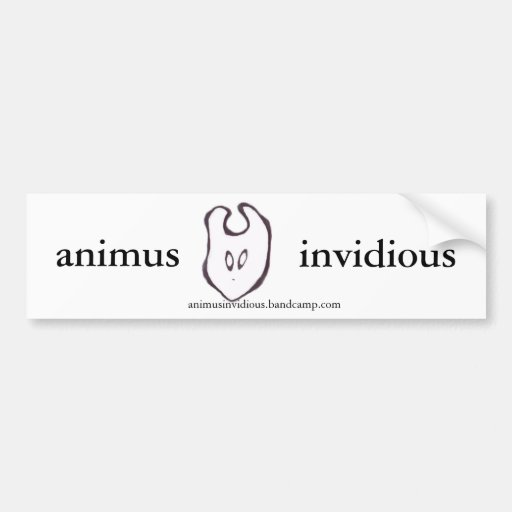 ani creature sticker of bumping car bumper sticker