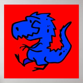 ani del dinosaurio de Dino de los dinosaurios de l Posters
