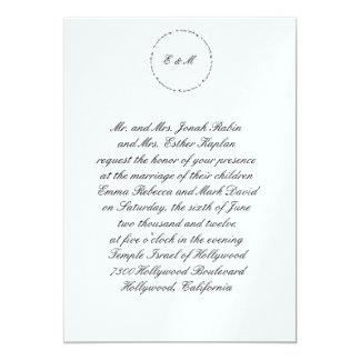 Ani hebreo L'Dodi Metall de la invitación del boda