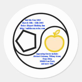 Ani Ida Con 2011 Classic Round Sticker