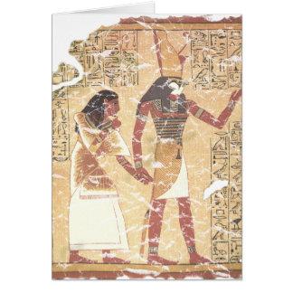 Ani y Horus Tarjeta De Felicitación