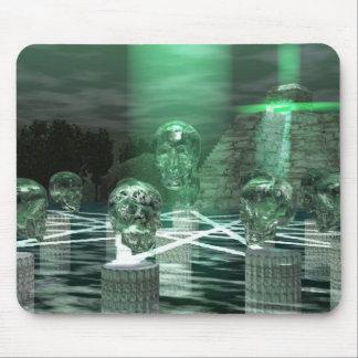 Anicent Mayan Ritual 13 Crystal Skulls Mouse Pad
