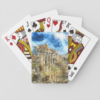 Anicent Ruins in Rome Italy Playing Cards
