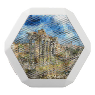 Anicent Ruins in Rome Italy White Bluetooth Speaker