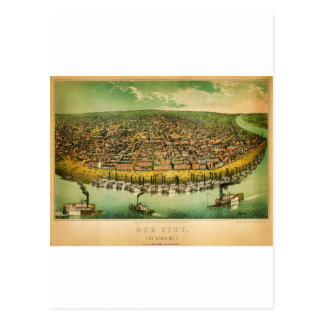 anicke's map of St Louis (1859).jpg Postcard