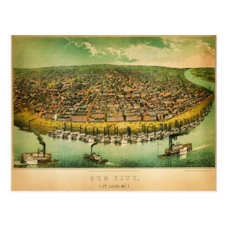 anicke's map of St Louis (1859) Postcard