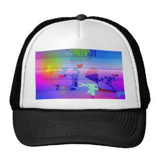 añil abstracto, azul, gráfico, polivinílico, gorras de camionero