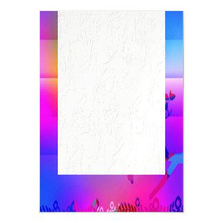 añil abstracto, azul, gráfico, polivinílico, invitaciones magnéticas