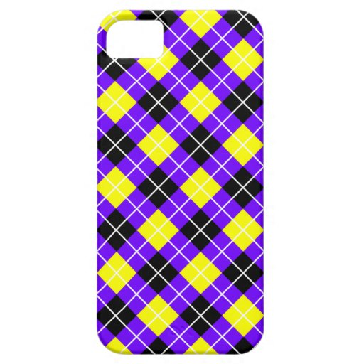 Añil, amarillo, Argyle blanco y negro iPhone 5 Coberturas