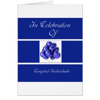Añil Cinta-En añil Tarjeta De Felicitación